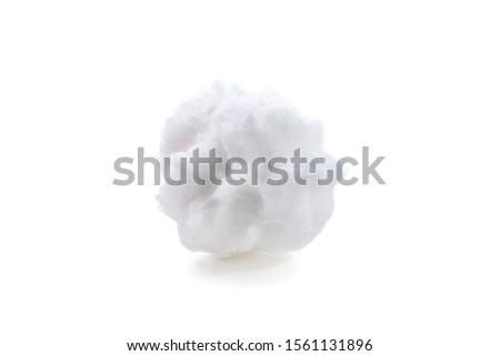 Roughly formed snowball with marks from fingers