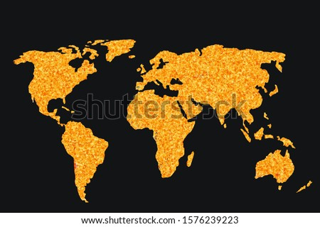 Roughly outlined world map with a colorful background patterns #1576239223