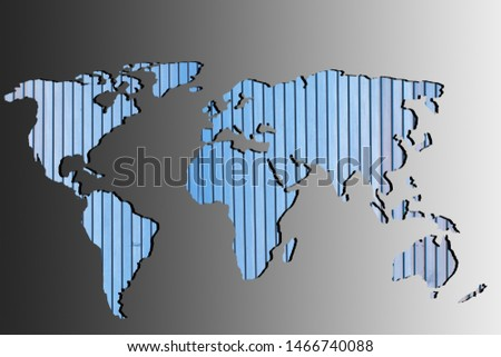Roughly outlined world map with a gray background #1466740088