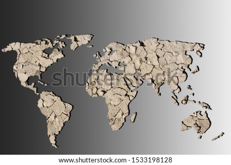 Roughly outlined world map with a gray background #1533198128