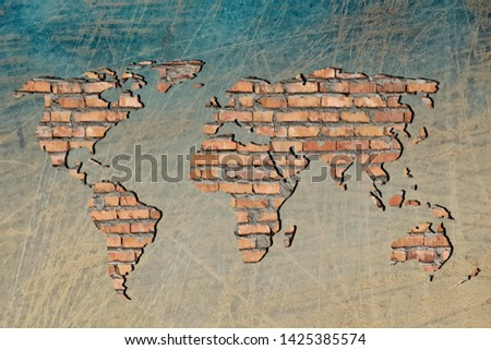 Roughly outlined world map with white background #1425385574