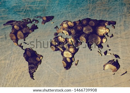 Roughly outlined world map with white background #1466739908