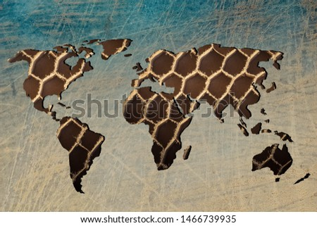 Roughly outlined world map with white background #1466739935