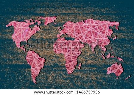 Roughly outlined world map with white background #1466739956
