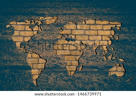 Roughly outlined world map with white background #1466739971