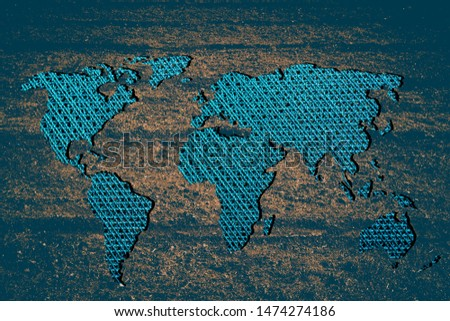 Roughly outlined world map with white background #1474274186