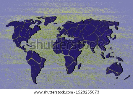 Roughly outlined world map with white background #1528255073