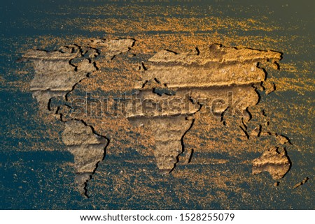 Roughly outlined world map with white background #1528255079
