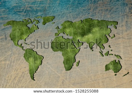 Roughly outlined world map with white background #1528255088