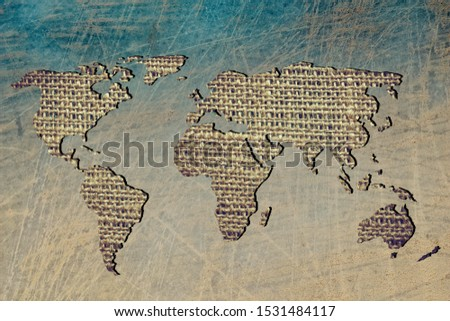 Roughly outlined world map with white background #1531484117