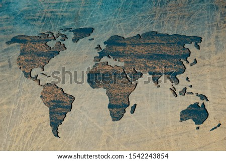 Roughly outlined world map with white background #1542243854