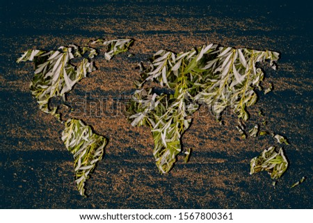 Roughly outlined world map with white background #1567800361