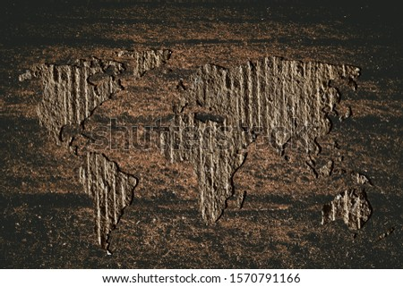 Roughly outlined world map with white background #1570791166