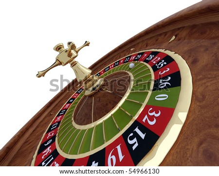 roulette, casino on white background