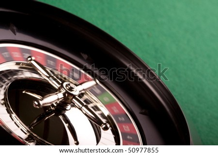 roulette playing - stock photo