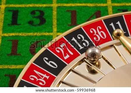 Roulette table with 13 as the winning number