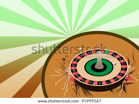Roulette wheel background with space (poster, web, leaflet, magazine)