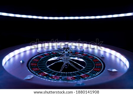 Roulette wheel close up at the Casino - Selective Focus Photo stock ©
