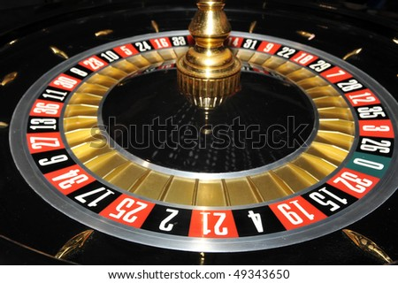Roulette wheel, close up image