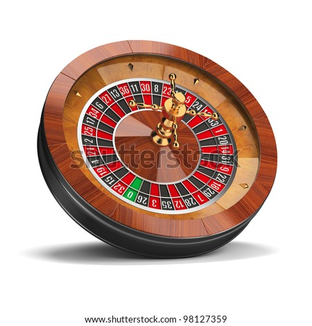 Roulette wheel. 3d image. Isolated white background.