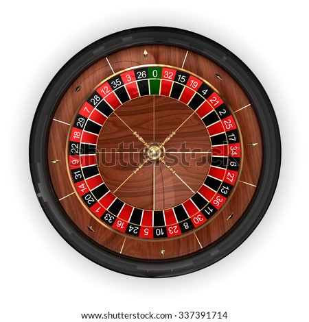 Roulette wheel. Top view. 3D render illustration isolated on white background