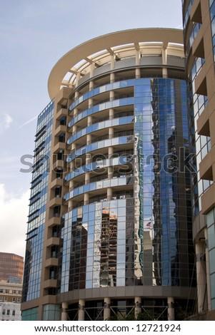 Round Against Blue, urban high rise buildine in Orlando Florida