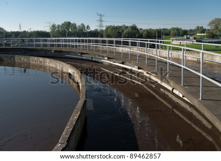 round bassin where the wasted water is being filtered