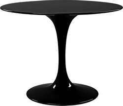 round black dinning table. Modern designer, table isolated on white background. Series of furniture.