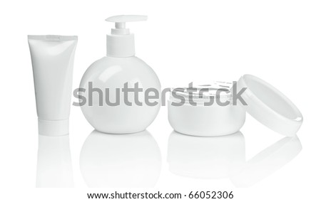 round bottle tube and cream