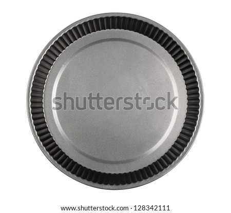 Round Cake Mould, Mold (Tart Tin). Isolated with clipping path.