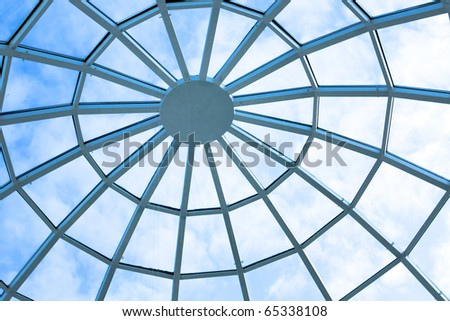 round ceiling inside office center #65338108