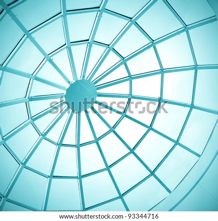 round ceiling inside office center