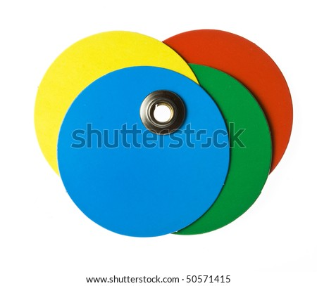 round color blank price tag on white
