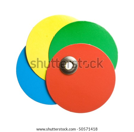 round color  blank price tag on white - stock photo