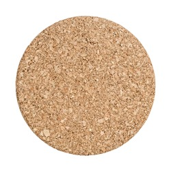 Round cork board isolated on white background