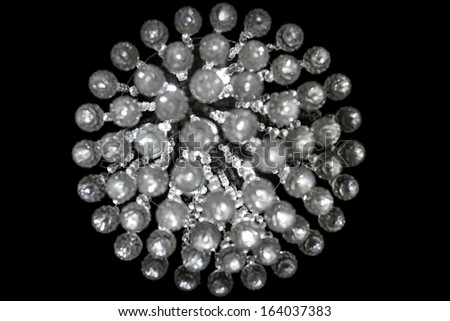 Round Crystal Pattern Isolated On Black