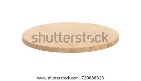 round cutting Board isolated on white #720888823