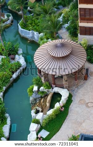 round gazebo by aquascape