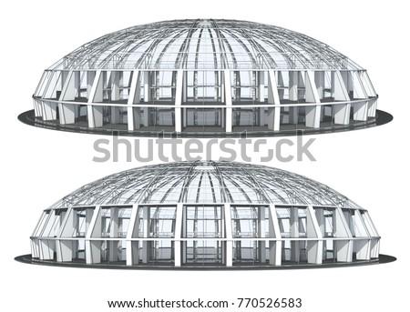 round glass building  pavilion  ...