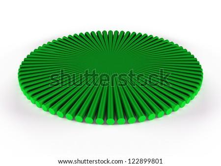 round green icon, 3d geometry