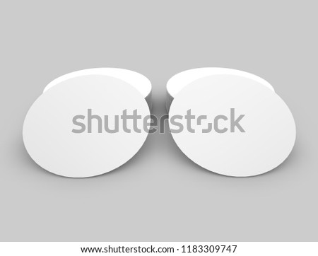 Round Label Logo 3d Illustration #1183309747