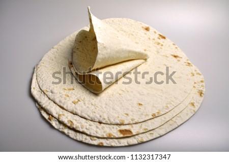 round light ready-made pita breads - national cuisine, Georgian cuisine, Persian cuisine #1132317347
