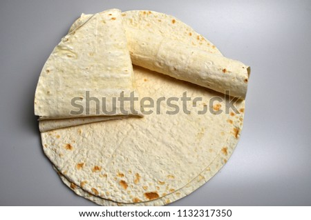 round light ready-made pita breads - national cuisine, Georgian cuisine, Persian cuisine #1132317350