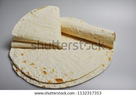 round light ready-made pita breads - national cuisine, Georgian cuisine, Persian cuisine #1132317353