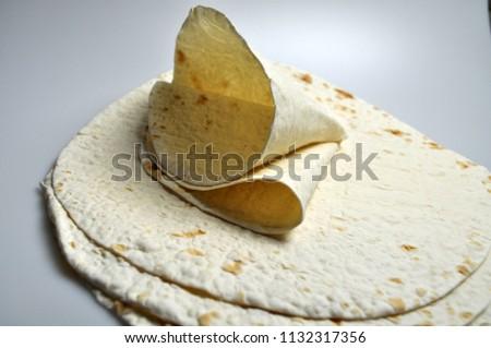 round light ready-made pita breads - national cuisine, Georgian cuisine, Persian cuisine #1132317356