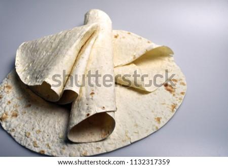 round light ready-made pita breads - national cuisine, Georgian cuisine, Persian cuisine #1132317359
