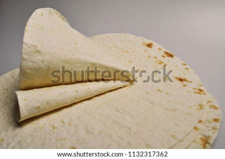 round light ready-made pita breads - national cuisine, Georgian cuisine, Persian cuisine #1132317362