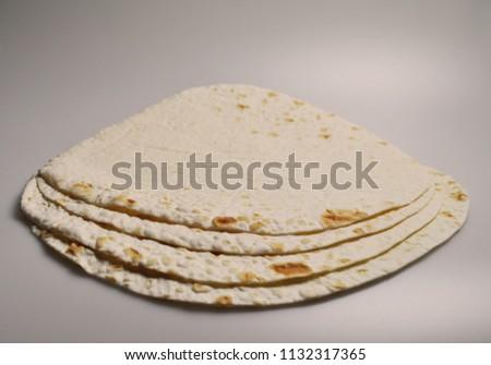 round light ready-made pita breads - national cuisine, Georgian cuisine, Persian cuisine #1132317365