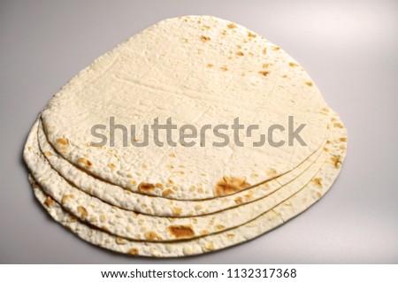 round light ready-made pita breads - national cuisine, Georgian cuisine, Persian cuisine #1132317368
