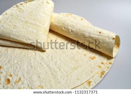 round light ready-made pita breads - national cuisine, Georgian cuisine, Persian cuisine #1132317371